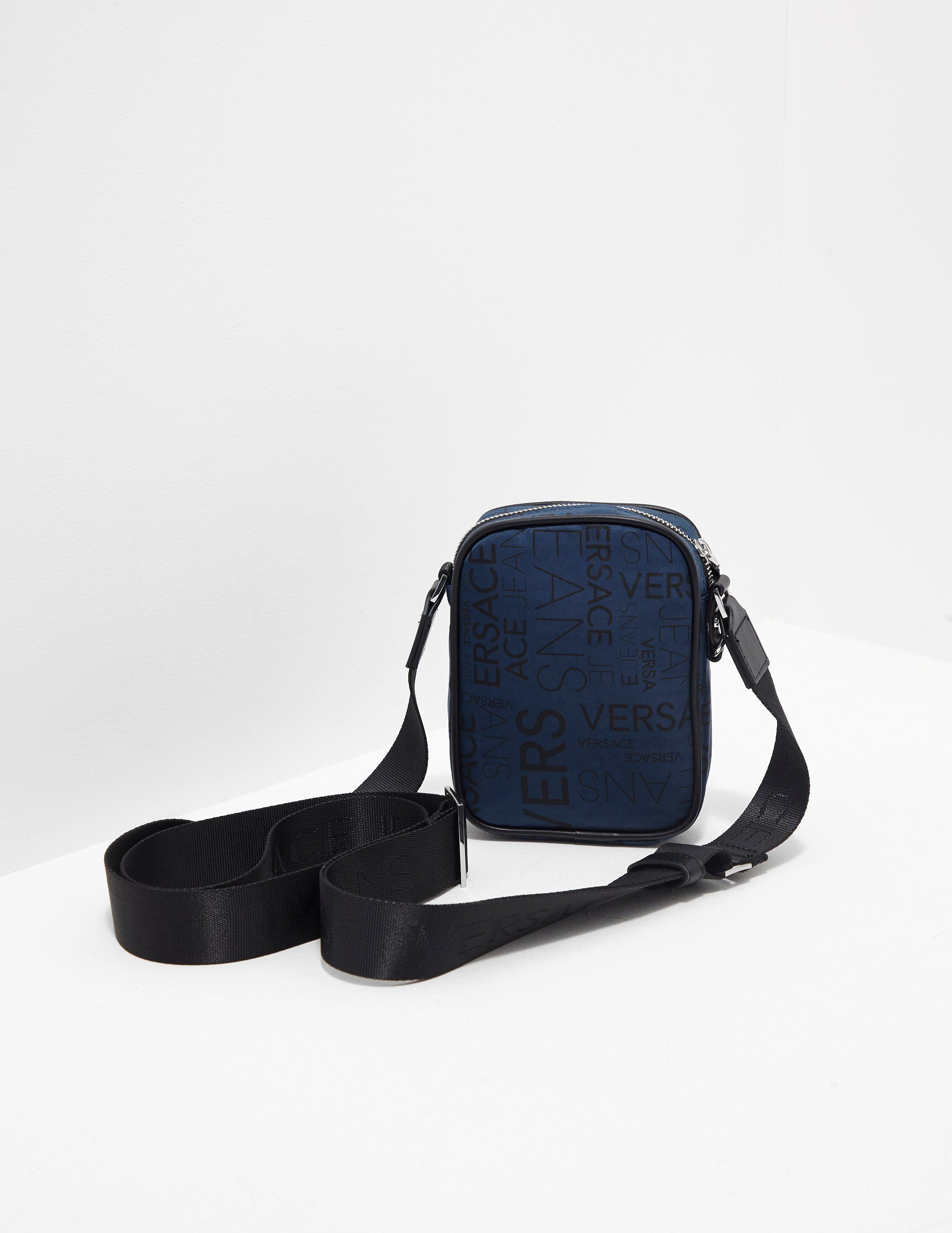 Versace Jeans All Over Logo Small Item Bag