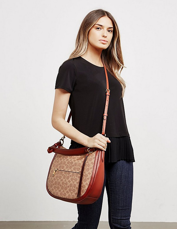 COACH Canvas Hobo Shoulder Bag