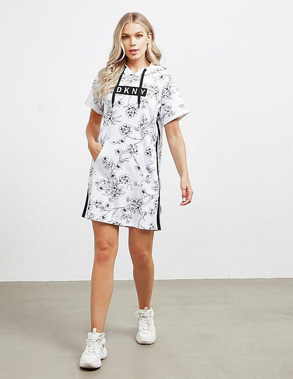 DKNY Hooded Printed Dress
