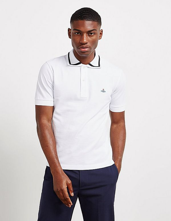Vivienne Westwood Heavy Tipped Collar Short Sleeve Polo Shirt
