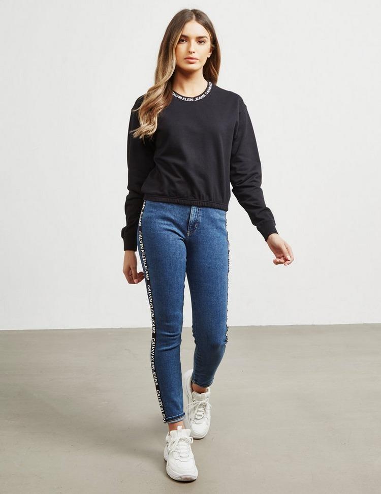 Calvin Klein Jeans Tape Crop Sweatshirt