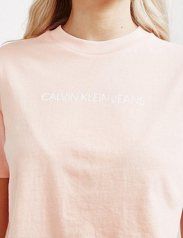 Calvin Klein Jeans Shrunken Institutional Short Sleeve T-Shirt