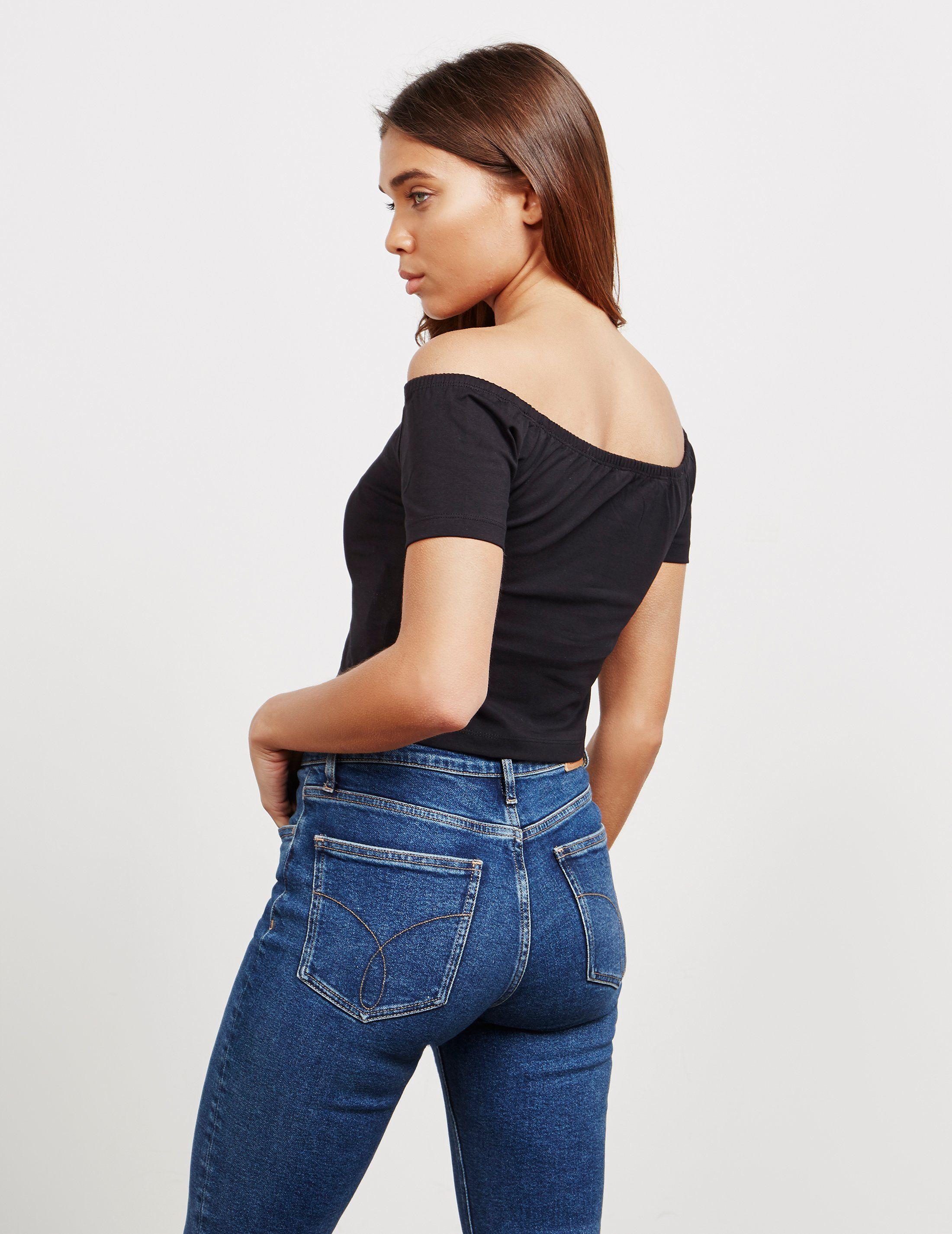 Calvin Klein Jeans Institutional Bardot Short Sleeve T-Shirt