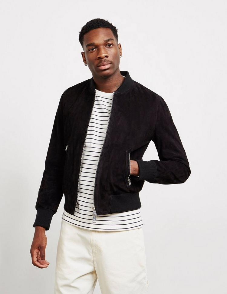 AMI Paris Suede Bomber Jacket