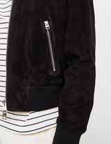 AMI Paris Suede Bomber Jacket