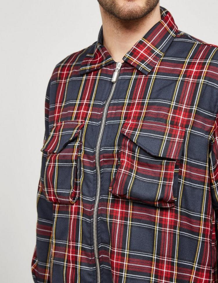 RHUDE Check Zip Through Shirt