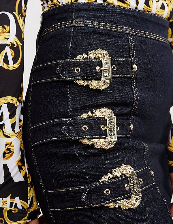Versace Jeans Couture Buckle Skirt