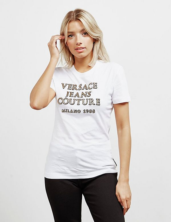 Versace Jeans Couture Gold Logo Short Sleeve T-Shirt