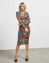 Versace Jeans Couture Flower Print Dress