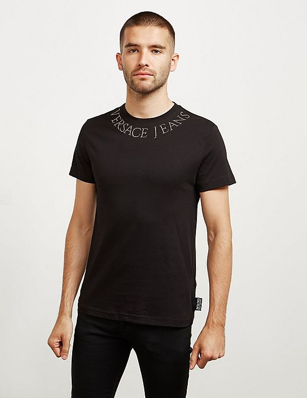 Versace Jeans Couture Neck Logo Short Sleeve T-Shirt