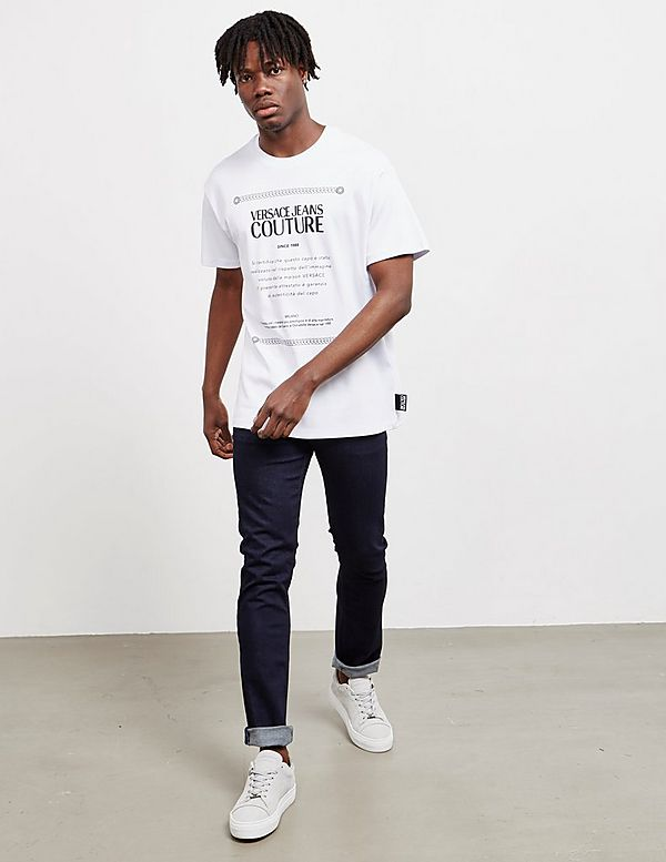 Versace Jeans Couture Label Short Sleeve T-Shirt