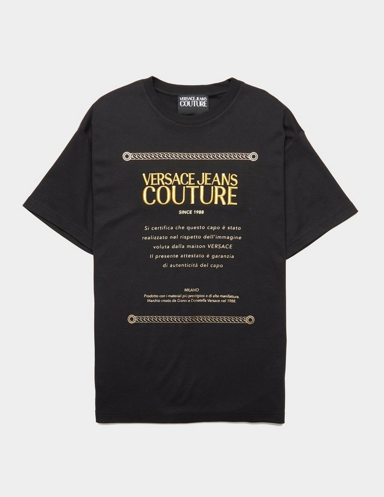 Versace Jeans Couture Label Oversize Short Sleeve T-Shirt