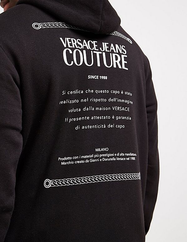 Versace Jeans Couture Label Full Zip Hoodie