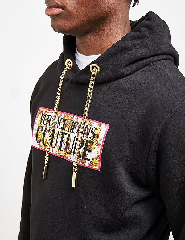 Versace Jeans Couture Box Logo Overhead Hoodie