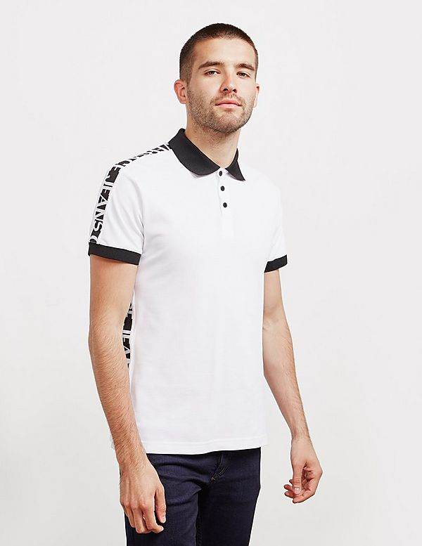 Versace Jeans Couture Tape Short Sleeve Polo Shirt