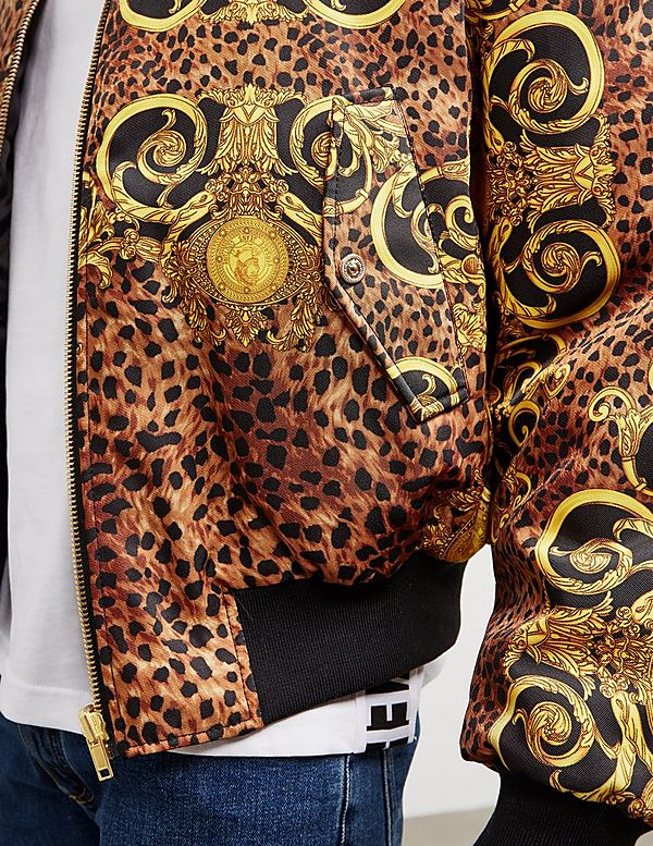 Versace Jeans Couture All Over Print Bomber Jacket
