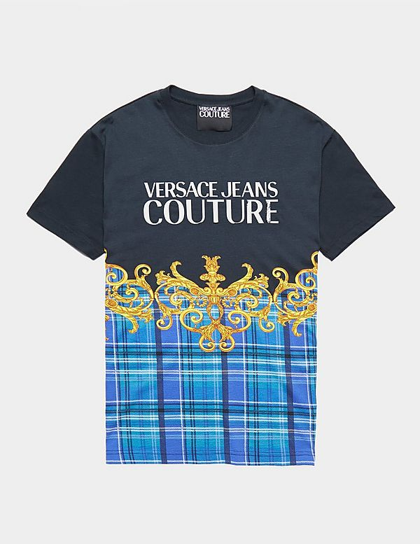Versace Jeans Couture Logo Check Short Sleeve T-Shirt
