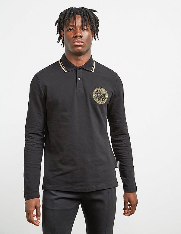 Versace Jeans Couture Medal Long Sleeve Polo Shirt