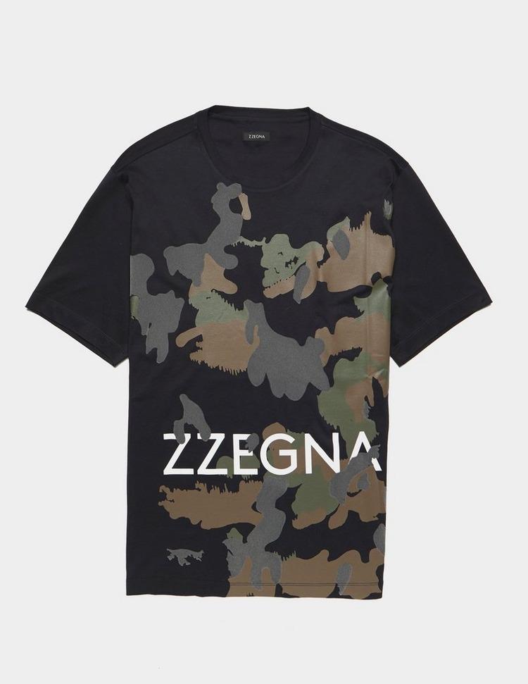 Z Zegna Camouflage Short Sleeve T-Shirt