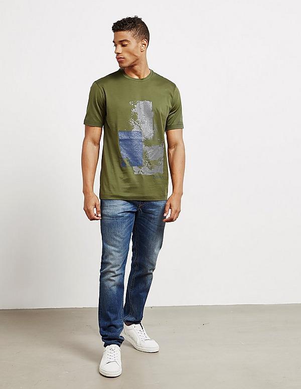 Z Zegna Square Block Short Sleeve T-Shirt