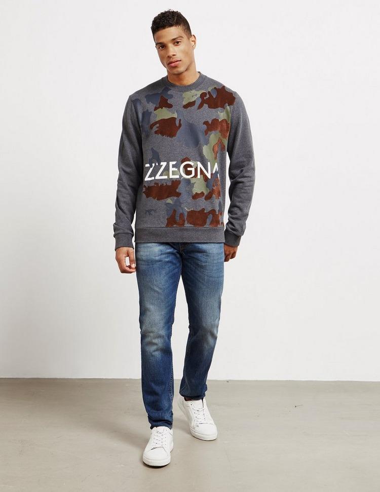 Z Zegna Felt Camouflage Sweatshirt