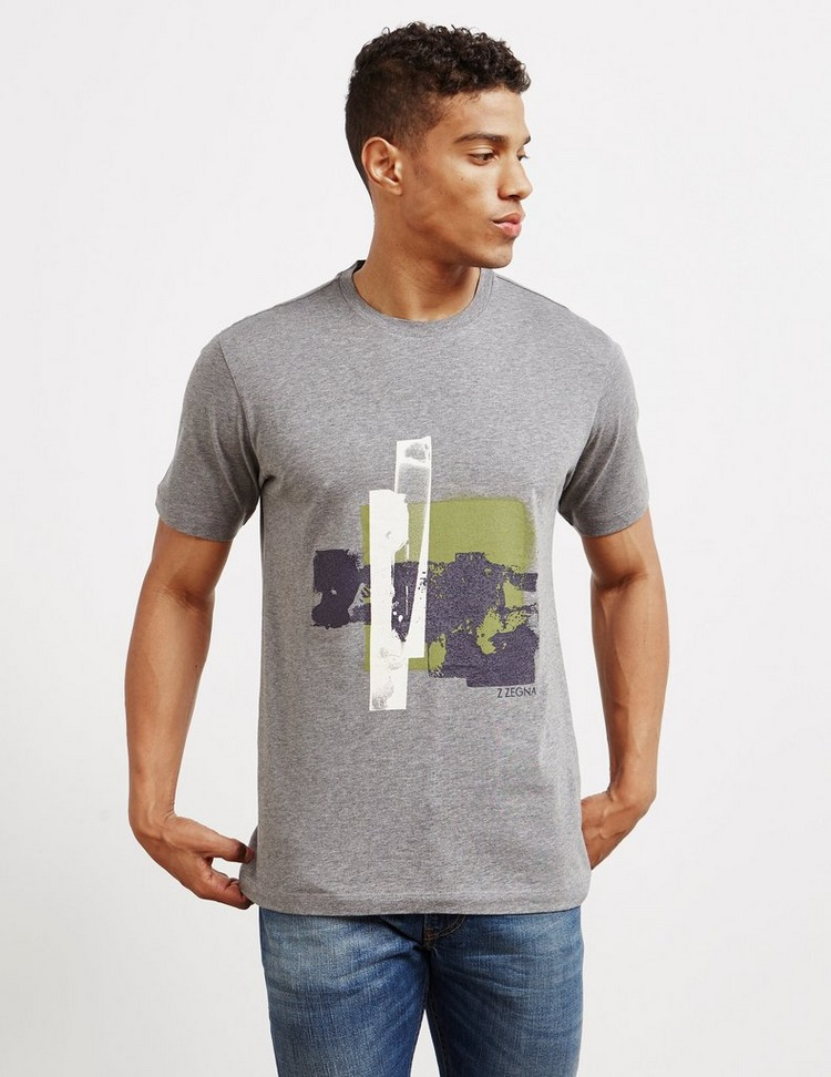 Z Zegna Square Print Short Sleeve T-Shirt