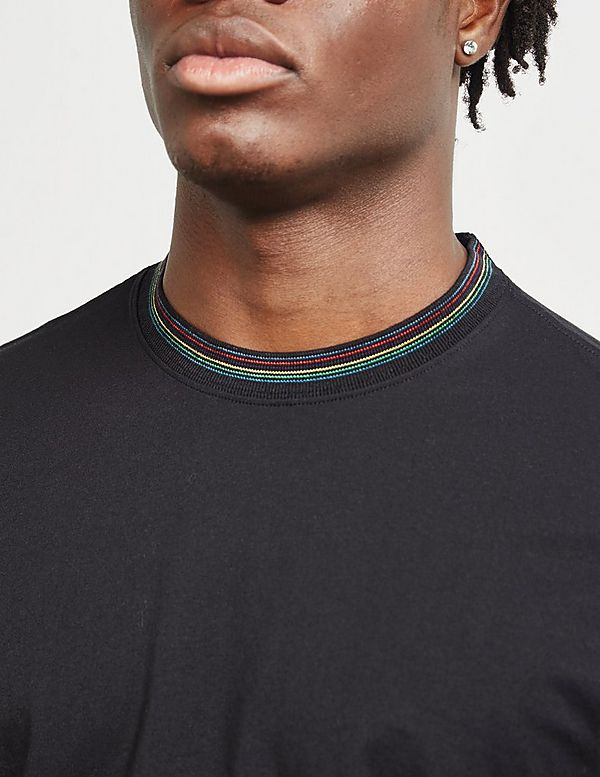 PS Paul Smith Stripe Tipped Short Sleeve T-Shirt