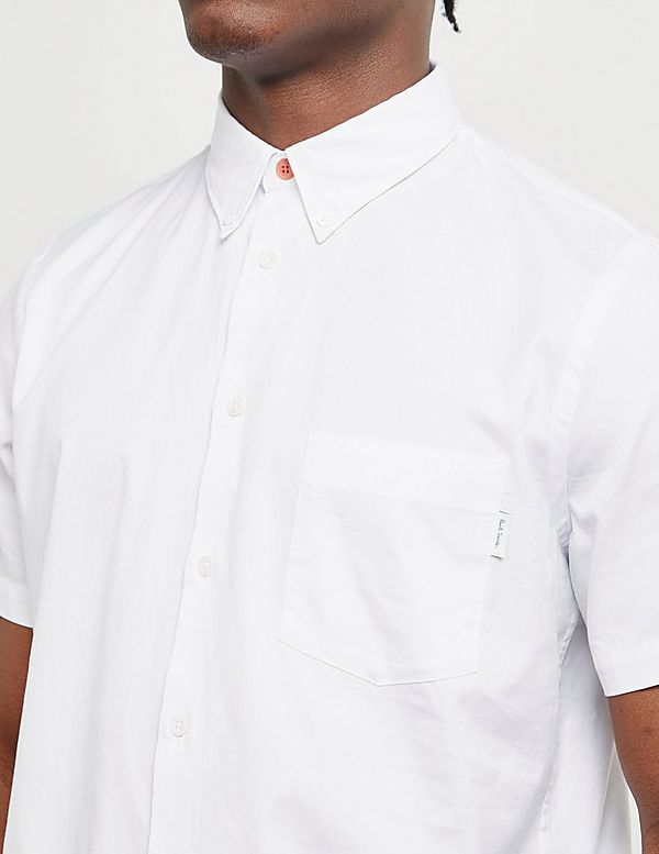 PS Paul Smith Tab Logo Pocket Short Sleeve Shirt
