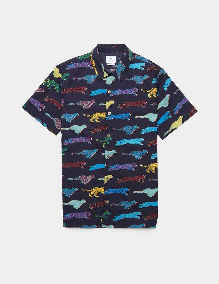 PS Paul Smith Cheetah Short Sleeve Cuban Shirt