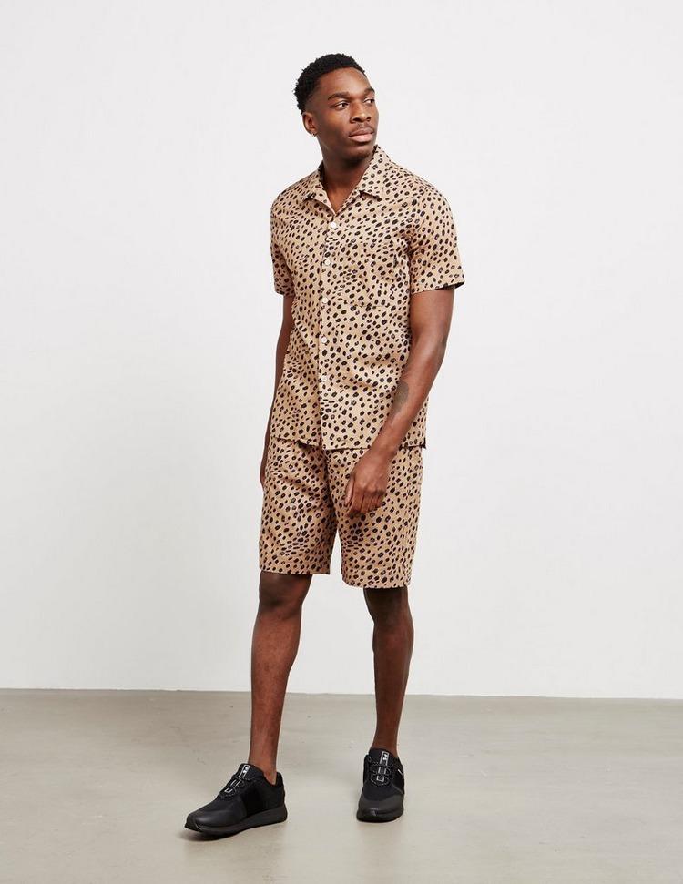 PS Paul Smith All Over Cheetah Print Short Sleeve Shirt