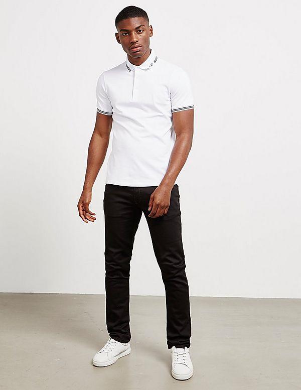 Emporio Armani Eagle Tipped Short Sleeve Polo Shirt