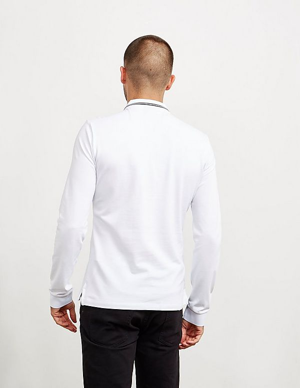 Emporio Armani Basic Tipped Long Sleeve Polo Shirt