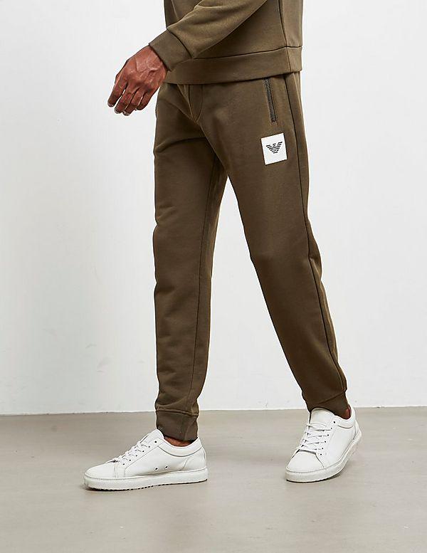 Emporio Armani Patch Eagle Cuffed Fleece Pants