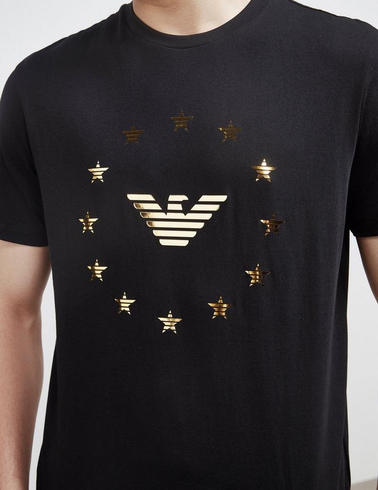 Emporio Armani Eagle and Star Short Sleeve T-Shirt