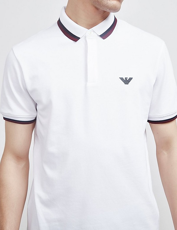 Emporio Armani Tri Colour Short Sleeve Tipped Polo Shirt