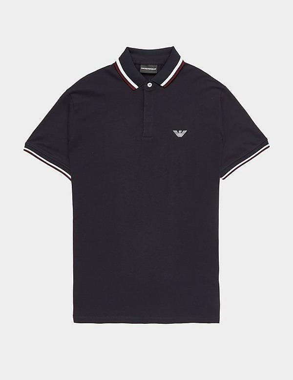 Emporio Armani Tri Colour Short Sleeve Tipped Polo Shirt