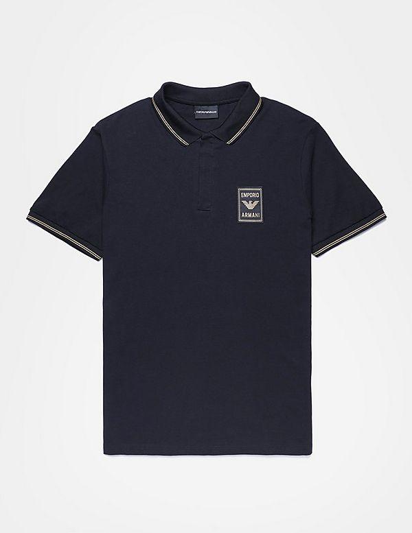 Emporio Armani Badge Short Sleeve Polo Shirt