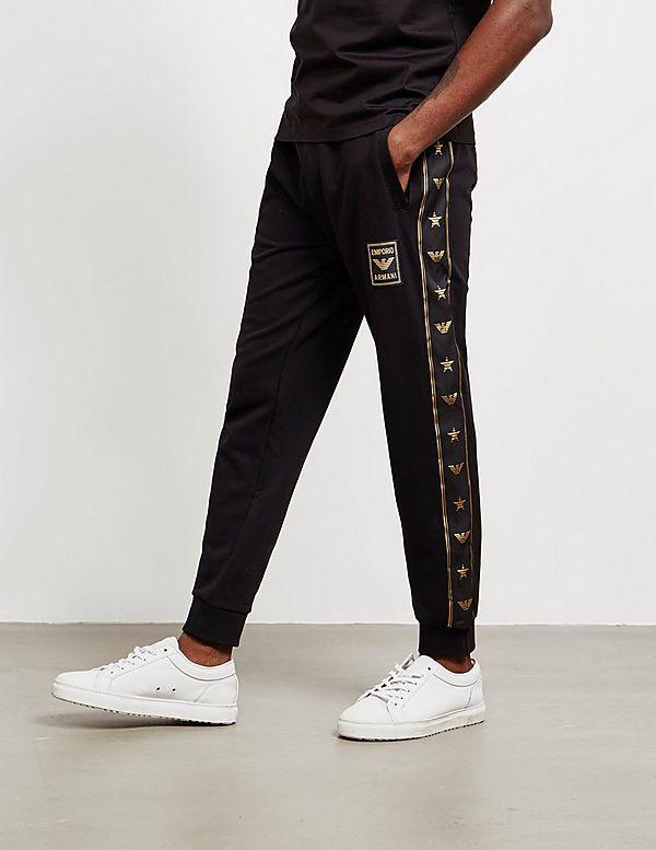 Emporio Armani Tape Cuffed Track Pants