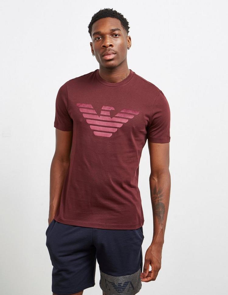 Emporio Armani Velour Eagle Short Sleeve T-Shirt