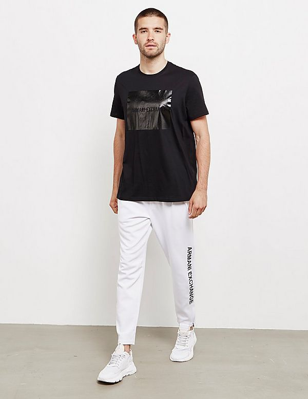 Armani Exchange Metallic Square Short Sleeve T-Shirt