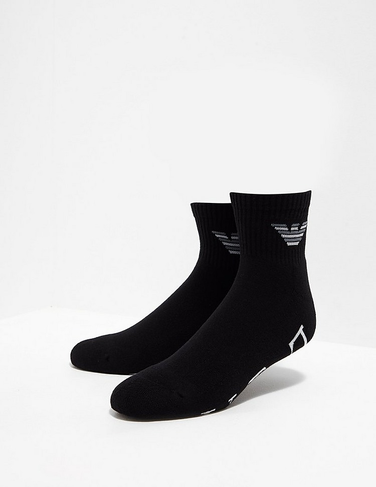 Emporio Armani 2 Pack Eagle Trainer Socks