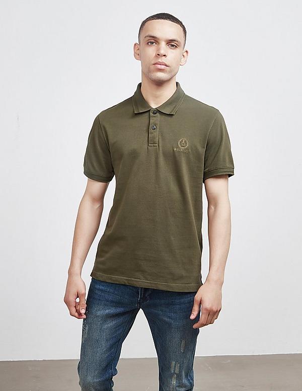 Belstaff Embroidered Short Sleeve Polo Shirt
