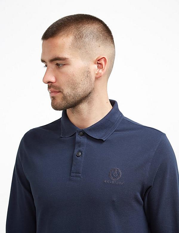 Belstaff Embroidered Long Sleeve Polo Shirt