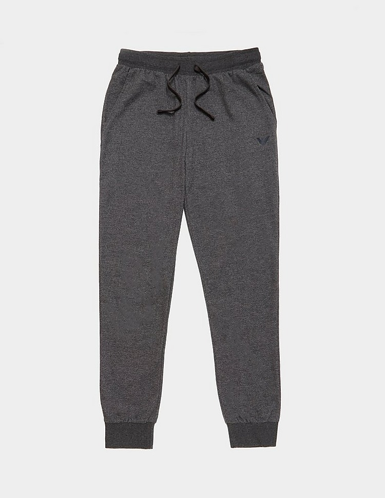 Emporio Armani Loungewear Logo Cuffed Fleece Pants