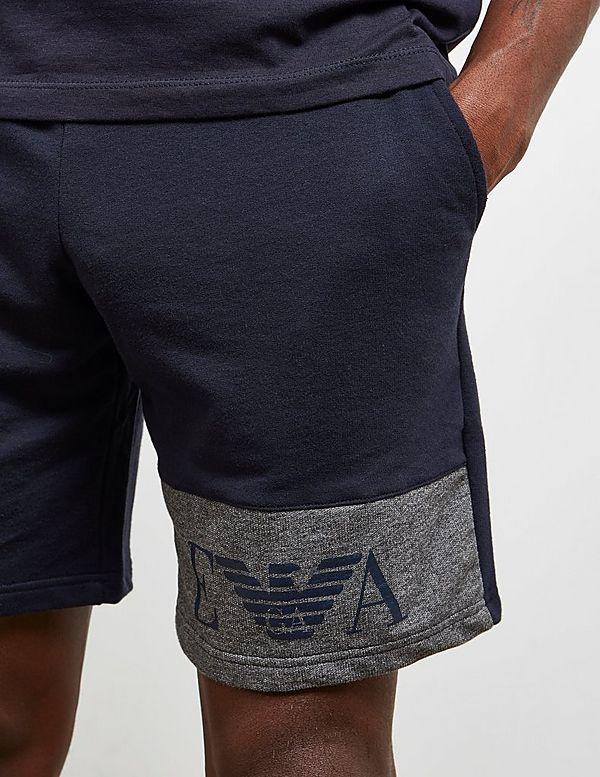 Emporio Armani Leg Logo Fleece Shorts