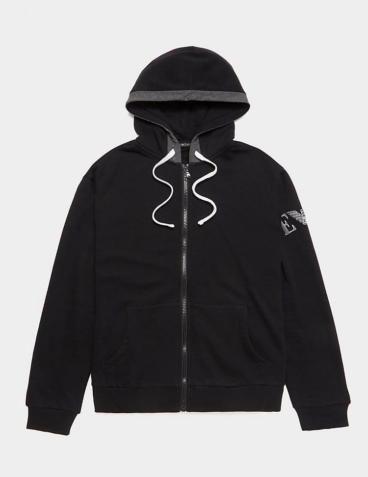 Emporio Armani Loungewear Embroidered Sleeve Full Zip Hoodie