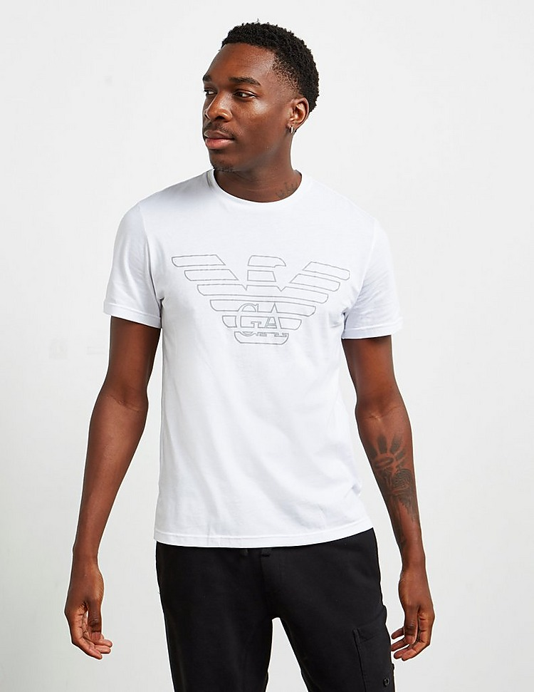 Emporio Armani Outline Eagle Short Sleeve T-Shirt