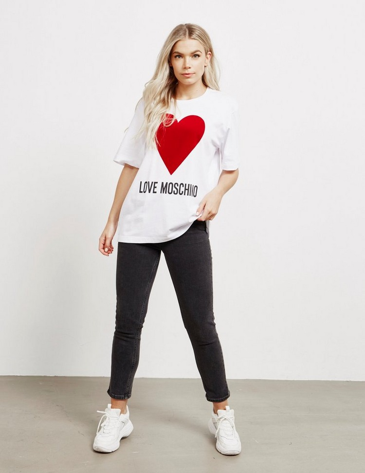 Love Moschino Heart Oversized Short Sleeve T-Shirt