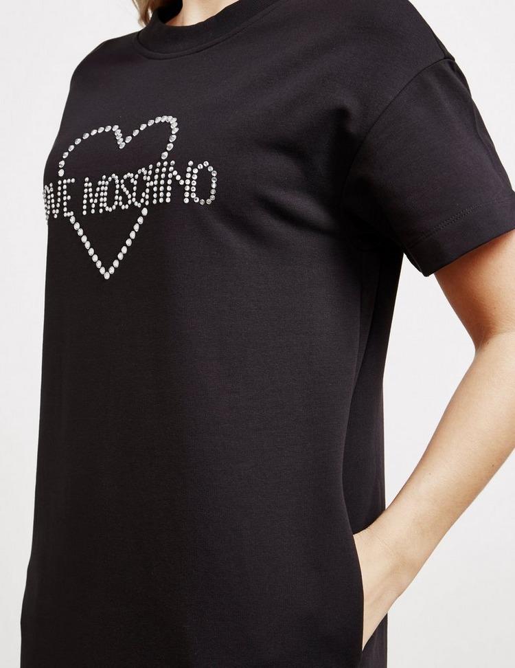 Love Moschino Crystal T-Shirt Dress