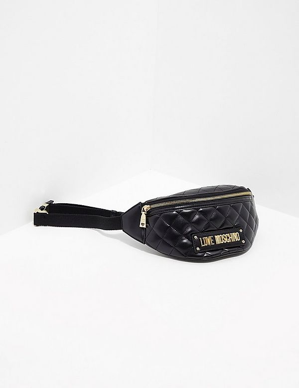 Love Moschino Logo Plaque Bum Bag